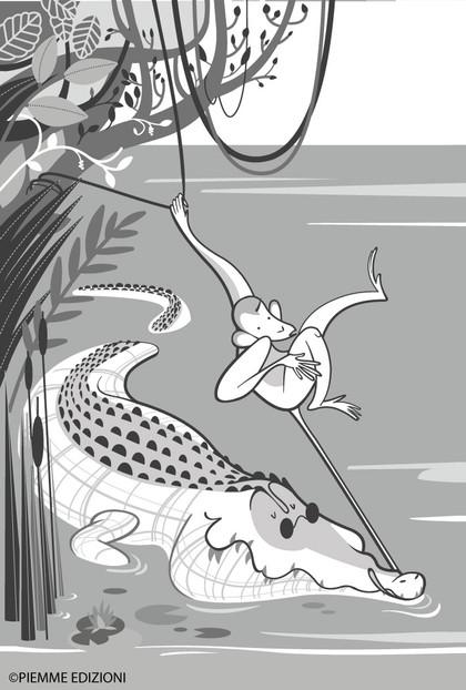 Pipì and the crocodile