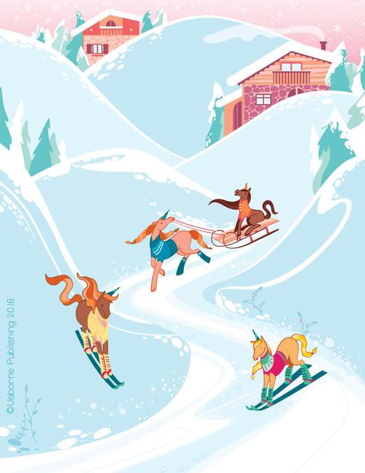 Camilla Garofano_rubdown unicorn_skiing-