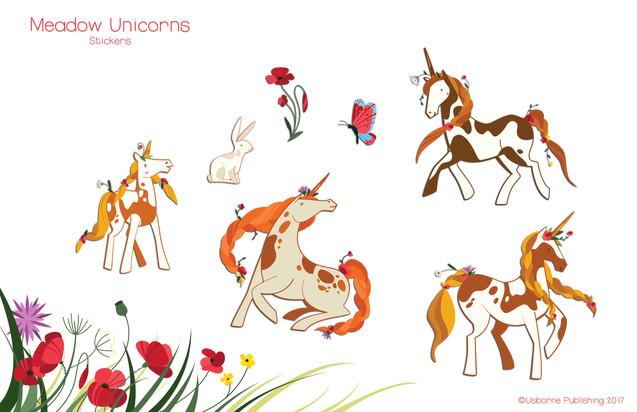 Countryside unicorns, stickers