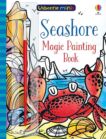 illustration with a crab on the seashore