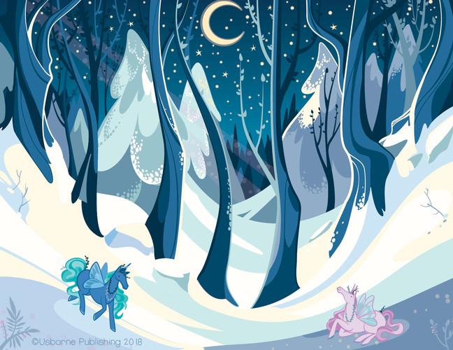 Camilla Garofano_rubdown unicorn_forest-