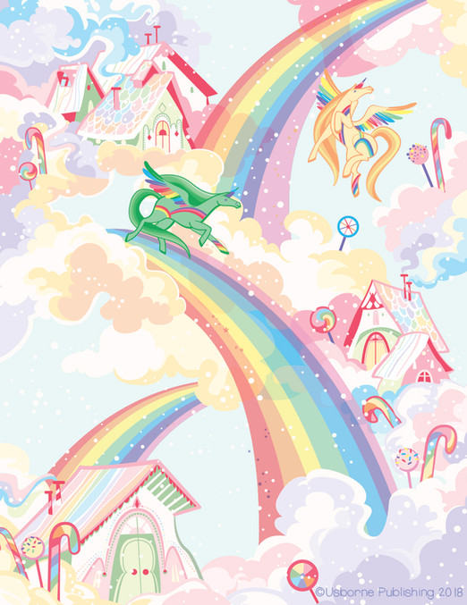 Camilla Garofano_rubdown unicorn_rainbow