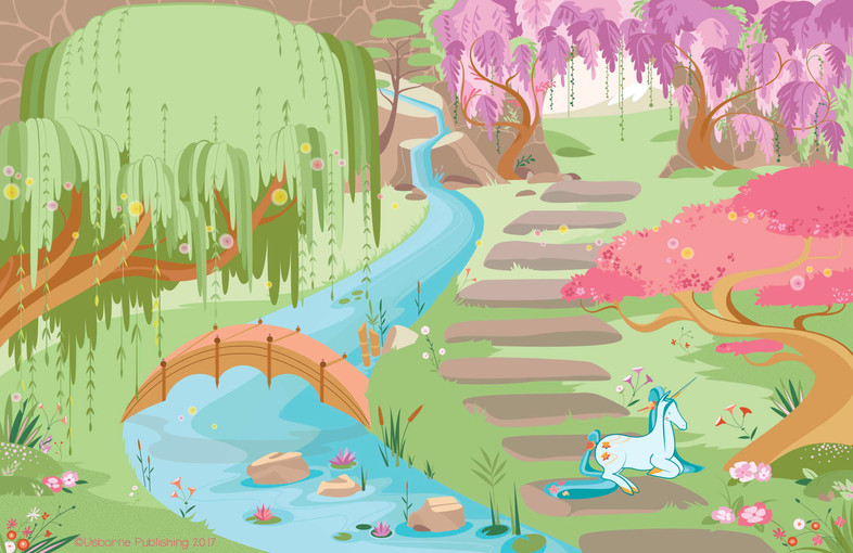 Japanese unicorns, background
