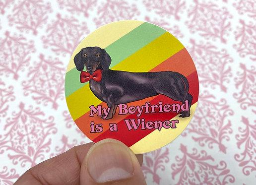 Wiener Boyfriend (Round Sticker)