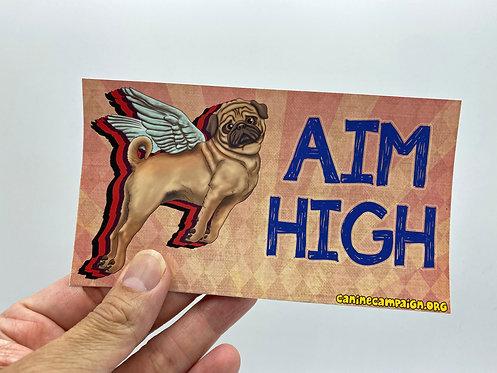 Aim High (Bumper Sticker)