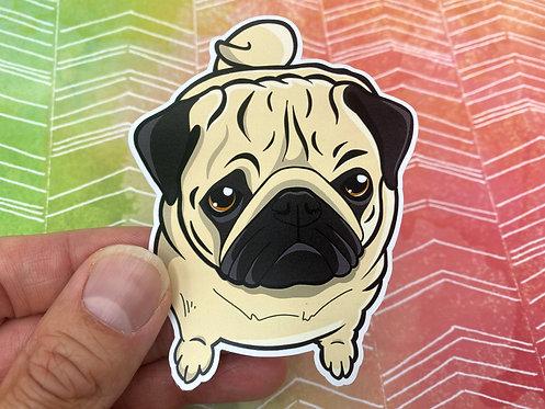 Pug Puppy (Die Cut Sticker)