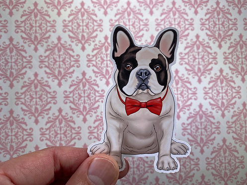 Bow Tie Frenchie (Die Cut Sticker)