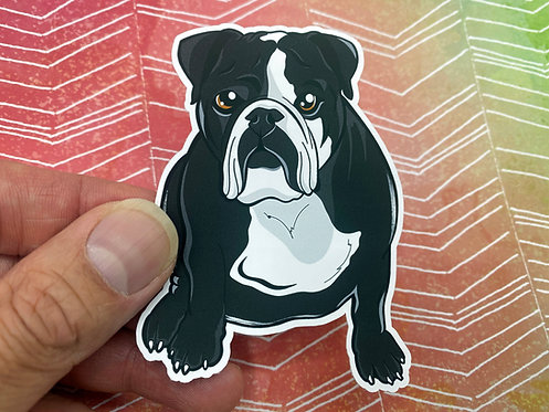 Black Bulldog (Die Cut Sticker)