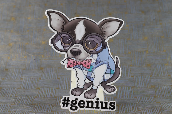 #genius Chihuahua (Die Cut Sticker)