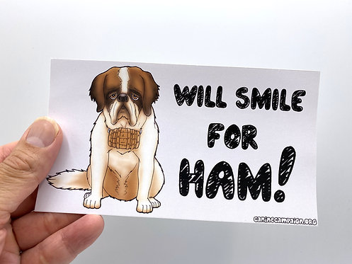 Smile for Ham (Bumper Sticker)