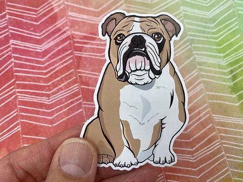 English Bulldog (Die Cut Sticker)