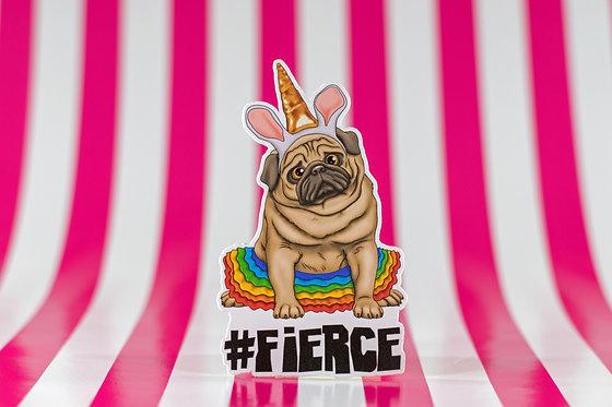 #fierce Unicorn (Die Cut Sticker)