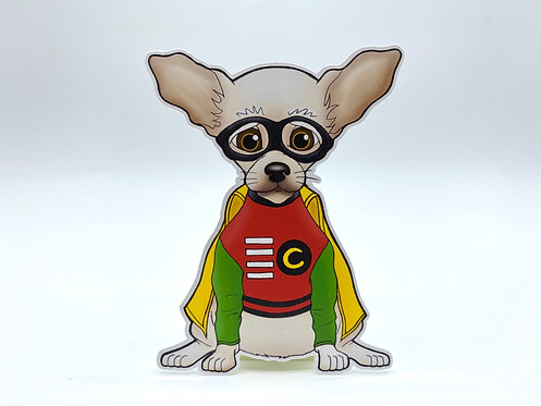Superhero Chihuahua (Die Cut Sticker)