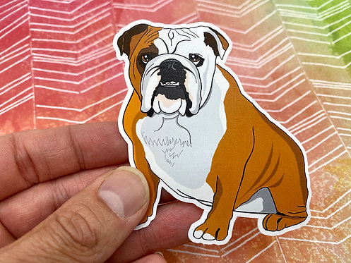 English Bulldog (Die Cut Sticker)