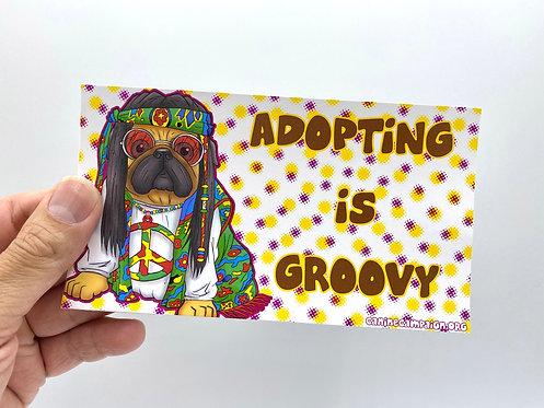 Adopting is Groovy (Bumper Sticker)