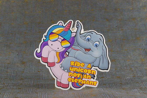 Ride a Unicorn (Die Cut Sticker)