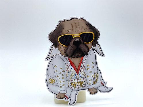Elvis Pug (Die Cut Sticker)