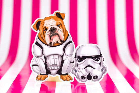 Bulldog Trooper (Die Cut Sticker)