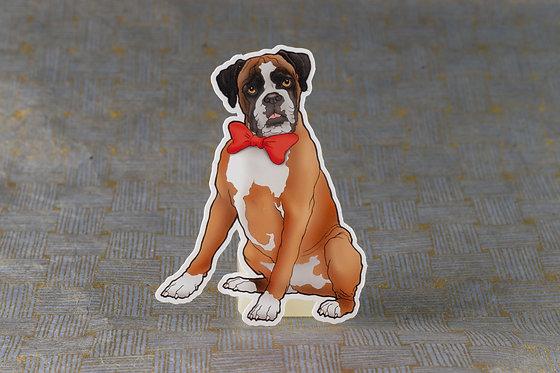 Boxer Bow Tie (Die Cut Sticker)