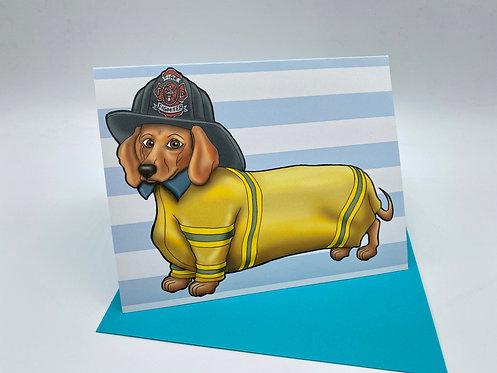 Dachshund Firefighter