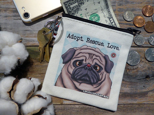 Adopt, Rescue, Love (4.5in x 4.5in)