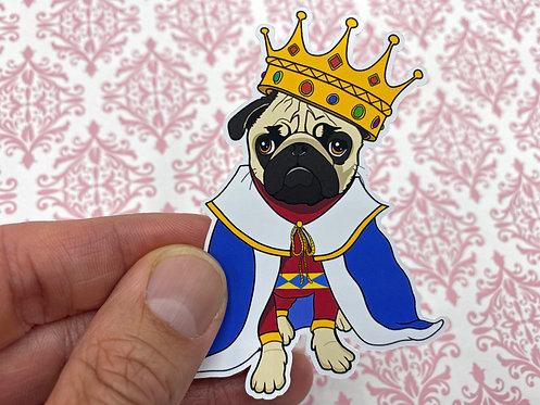 Pug Royalty (Die Cut Sticker)