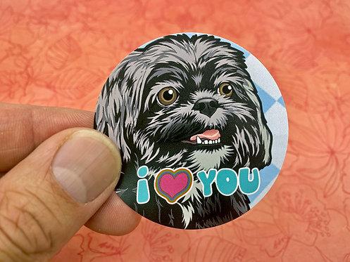 I <3 You (Round Sticker)