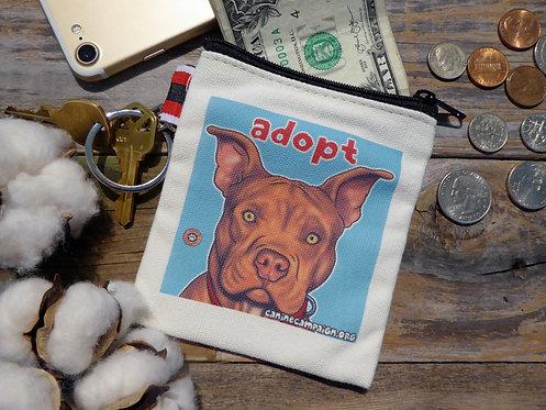 Adopt - Red Pitbull (4.5in x 4.5in)