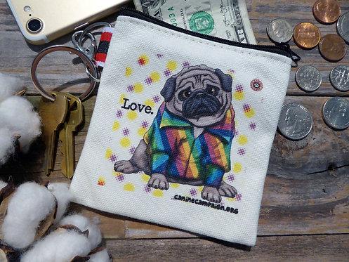 Love - Pug (4.5in x 4.5in)