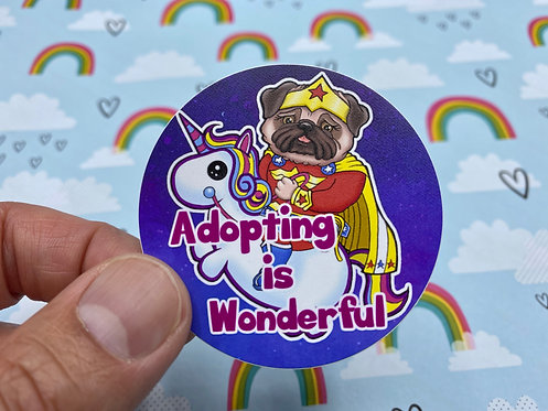 Adopting is Wonderful (Round Sticker)
