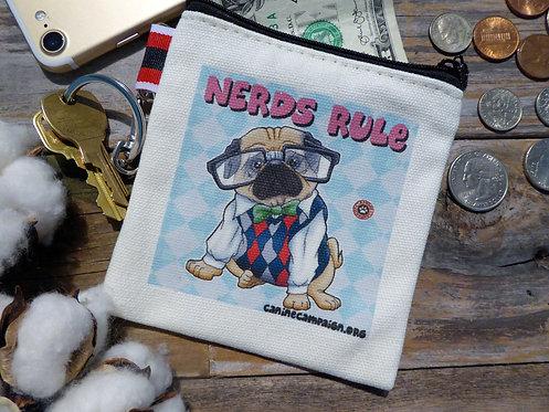 Nerds Rule - Pug (4.5in x 4.5in)