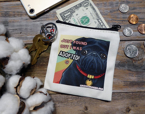 Adopted Black Pug (4.5in x 4.5in)