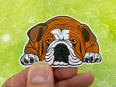 Sleeping Bulldog (Die Cut Sticker)