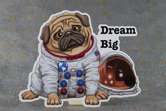 Dream Big (Die Cut Sticker)