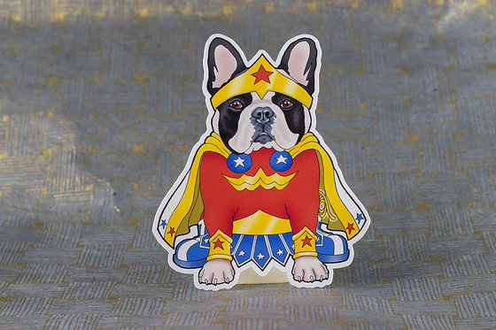 Wonder Frenchie (Die Cut Sticker)