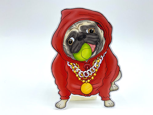 Baller Pug (Die Cut Sticker)