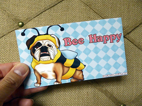 Bee Happy (Bumper Sticker)