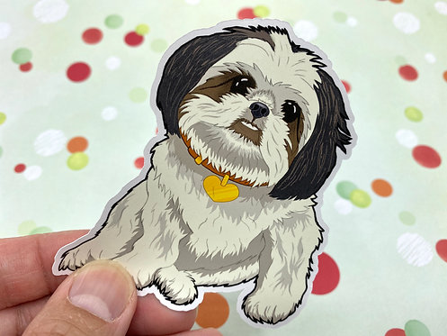 Cute Shih Tzu (Die Cut Sticker)