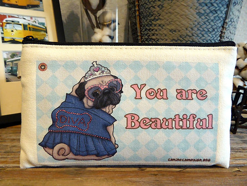 You are Beautiful - Pug (7.5in x 4.5in)