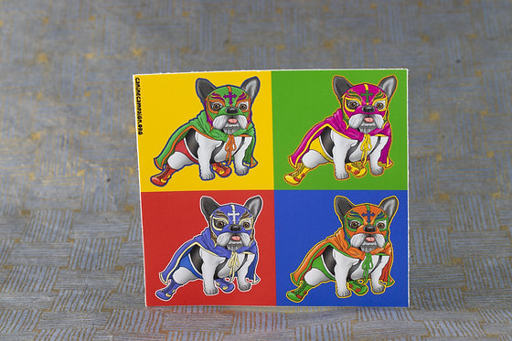 4 Shades of Frenchie (Die Cut Sticker)