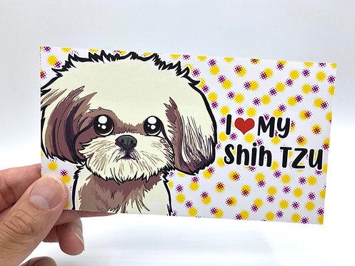 I <3 My Shih Tzu (Bumper Sticker)