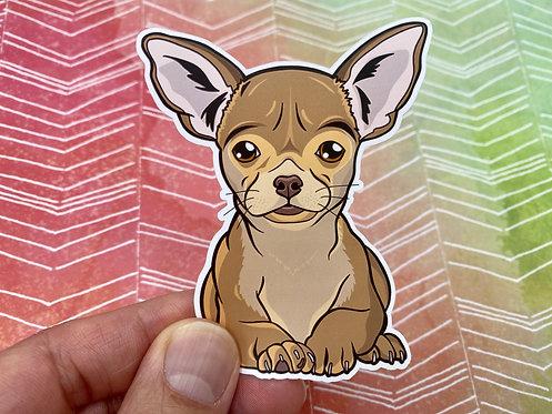 Brown Chihuahua (Die Cut Sticker)