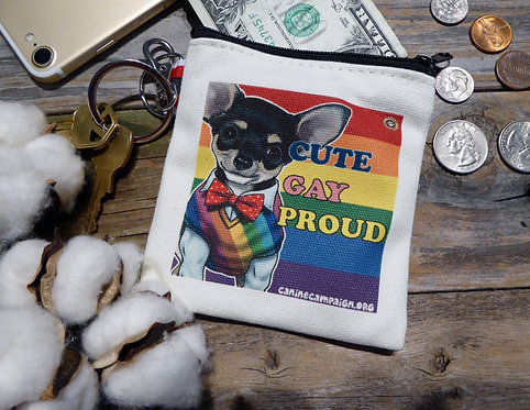 Cute, Gay, Proud (4.5in x 4.5in)
