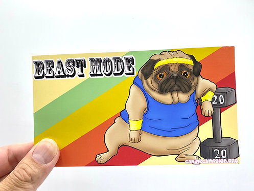 Beast Mode (Bumper Sticker)