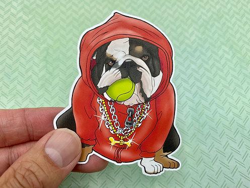 Cool Bulldog (Die Cut Sticker)