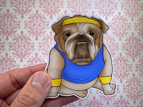 Bulldog Gym (Die Cut Sticker)