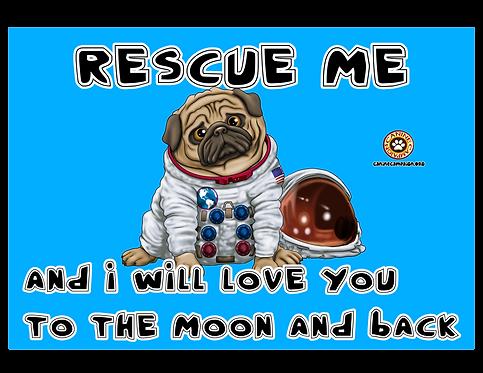 Rescue Me (Astronaut Pug)
