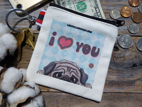 I <3 You - Fawn Pug (4.5in x 4.5in)