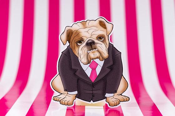 Bulldog in Suit (Die Cut Sticker)