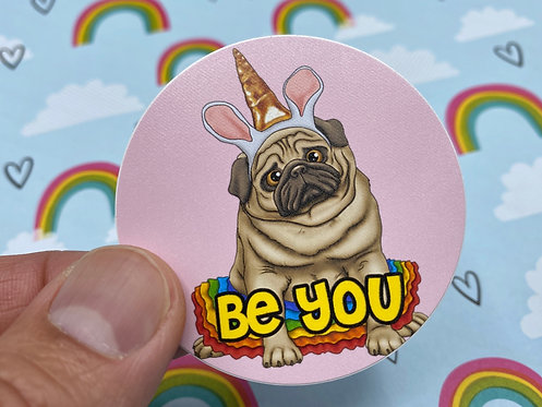 Be You (Round Sticker)